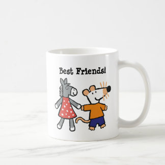 Best Friends Maisy and Dotty Hold Hands Coffee Mug