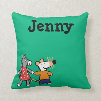 Best Friends Maisy and Dotty Hold Hands Cushion