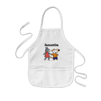 Best Friends Maisy and Dotty Hold Hands Kids Apron