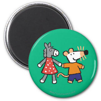 Best Friends Maisy and Dotty Hold Hands Magnet