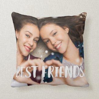 Best Friends Overlay Photo Cushion