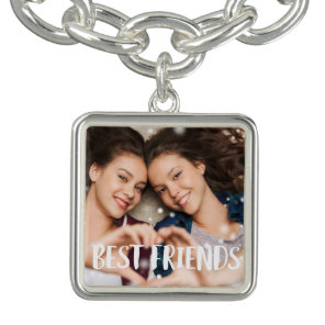 Best Friends Photo Charm Bracelet