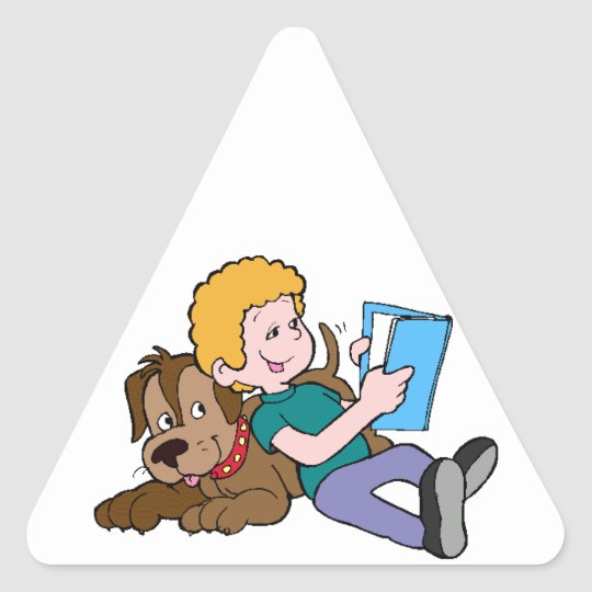 Best Friends Reading Triangle Sticker