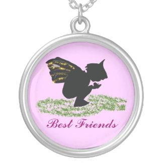 , Best Friends Round Pendant Necklace