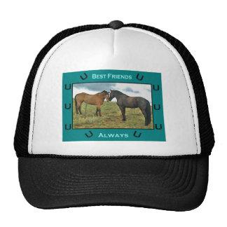 Best Friends sentiment with Horses Trucker Hat