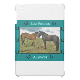 Best Friends sentiment with Horses iPad Mini Case