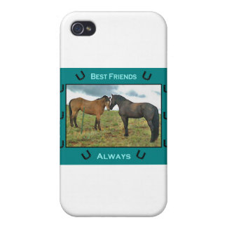 Best Friends sentiment with Horses iPhone 4/4S Covers