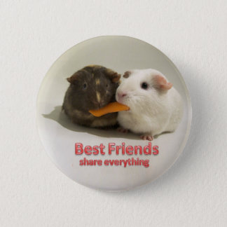 Best Friends share everything 6 Cm Round Badge