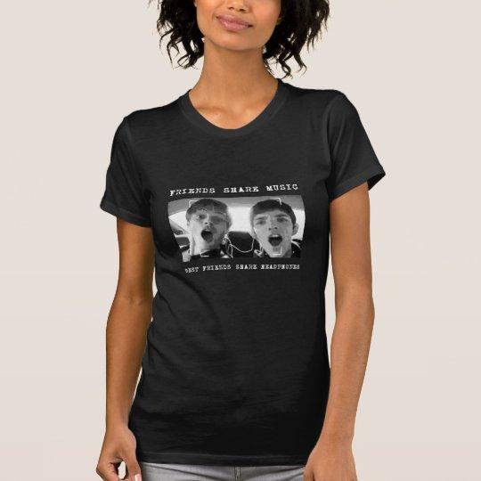 Best Friends Share Headphones T-Shirt