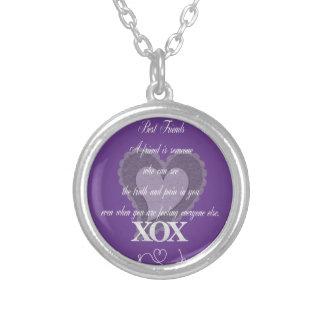 Best Friends Silver Round Necklace