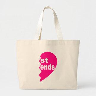 Best Friends, st ends Jumbo Tote Bag