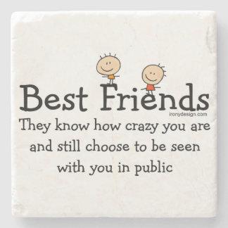 Best Friends Stone Coaster
