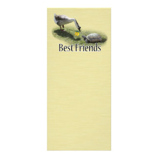 Best Friends - The Turtle & The Goose Customized Rack Card
