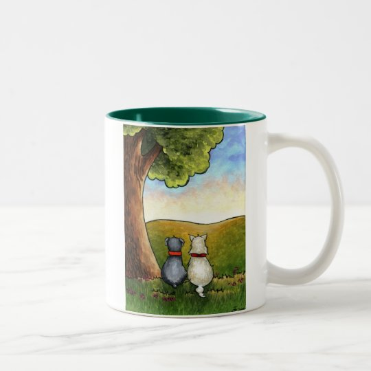 BEST FRIENDS Two-Tone COFFEE MUG