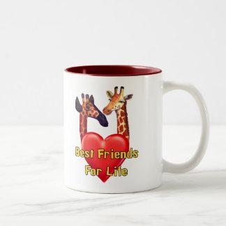 Best Friends Two-Tone Coffee Mug