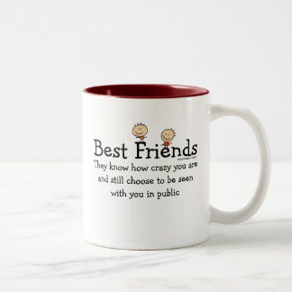 Best Friends Two-Tone Mug