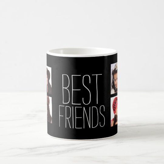 Best Friends with 8 Photos Coffee Mug