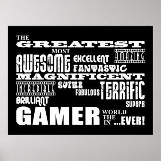 Best Gamers Birthdays Greatest Gamer Poster
