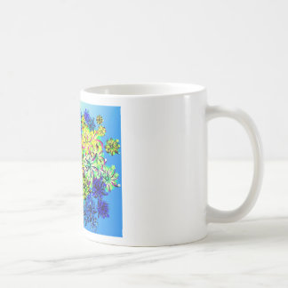 Best gift blue abstract art for mother's day coffee mug