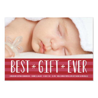 Best Gift Ever | Holiday Birth Announcement
