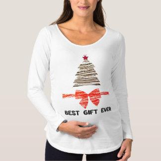 Best Gift Ever Maternity Christmas Long Sleeve Maternity T-Shirt