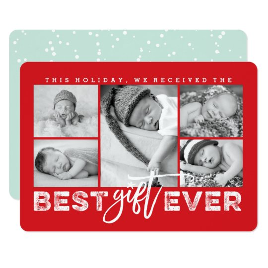 Best Gift Ever New Baby Holiday Photo Collage