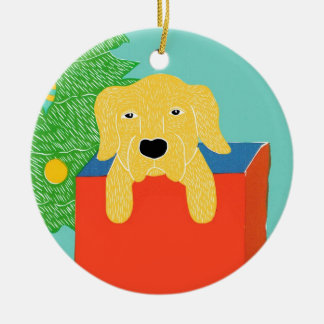Best gift ever yellow lab- Stephen Huneck Christmas Ornament