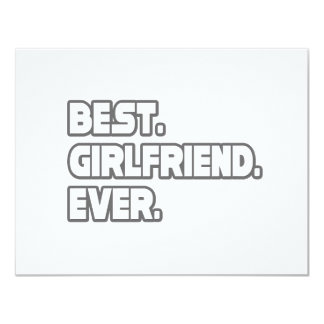 Best Girlfriend Ever 11 Cm X 14 Cm Invitation Card
