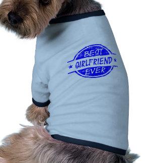 Best Girlfriend Ever Blue Dog T Shirt