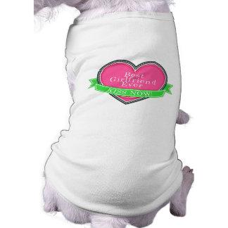 Best Girlfriend Ever Sleeveless Dog Shirt