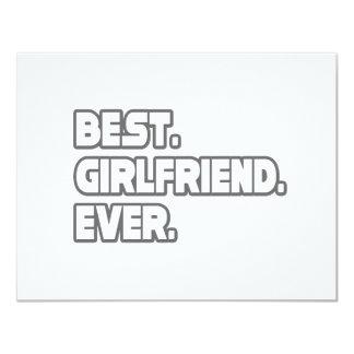 Best Girlfriend Ever 4.25x5.5 Paper Invitation Card