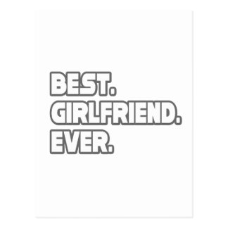 Best Girlfriend Ever Postcard