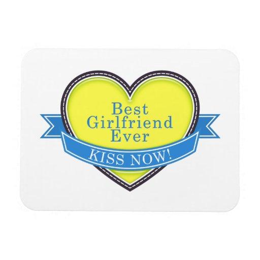 Best Girlfriend Ever Rectangular Magnets