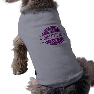Best Girlfriend Ever Purple Dog Tshirt