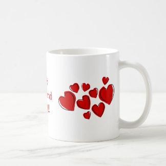 Best Girlfriend Ever Red Sketchy Hearts Mug