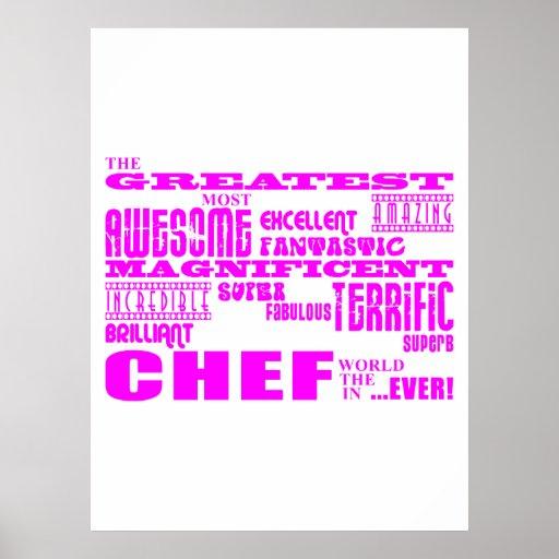 Best Girls Chefs Birthdays : Pink Greatest Chef Posters