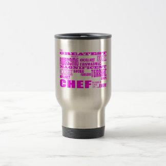 Best Girls Chefs Birthdays : Pink Greatest Chef Travel Mug