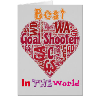 Best Goal Shooter Love Netball Card