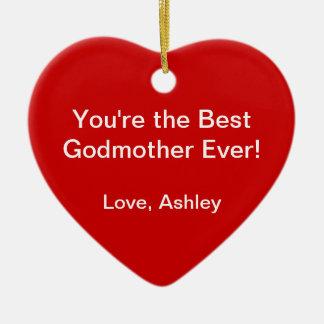 Best Godmother Ceramic Heart Decoration