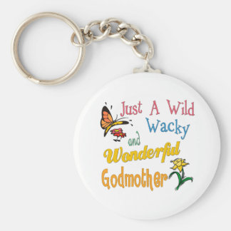 Best Godmother Gifts Basic Round Button Key Ring