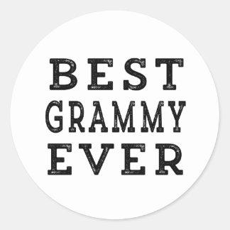 Best Grammy Ever Classic Round Sticker