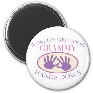 Best Grammy Hands Down T-shirt 6 Cm Round Magnet