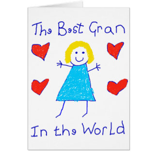 Best Gran In The World Greeting Cards