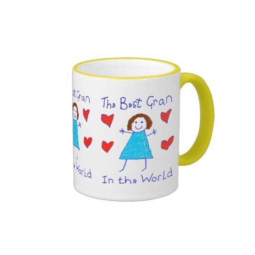 Best Gran In The World Ringer Coffee Mug