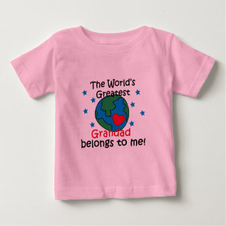 Best Grandad Belongs to me Baby T-Shirt