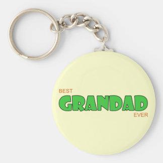 Best Grandad Ever Basic Round Button Key Ring