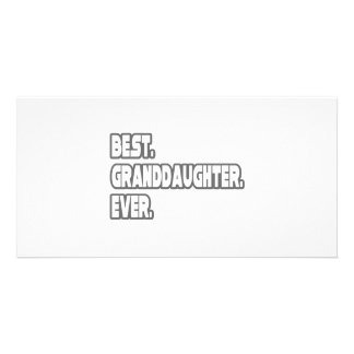 Best Granddaughter Ever Photo Card Template