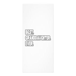 Best Granddaughter Ever Custom Rack Card