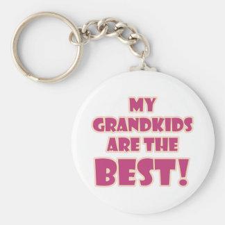 Best Grandkids Basic Round Button Key Ring