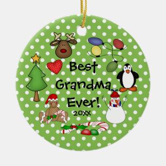 Best Grandma Ever Christmas Ornament